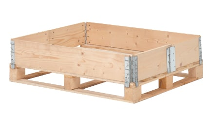 Pallet collar wood 1200x1000x200 mm - 6 Hinges, collapsible