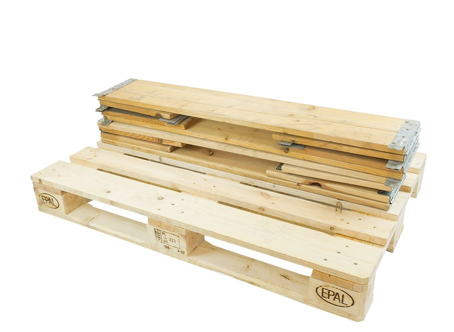 Pallet collar wood 1200x800x200 mm - 6 Hinges, collapsible