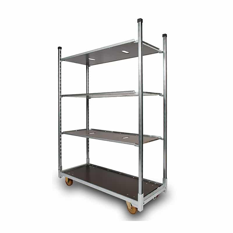 Danish Plant Container Trolley - 1350x565x1900 mm - incl. 3 Shelves, 350 kg Load Capacity