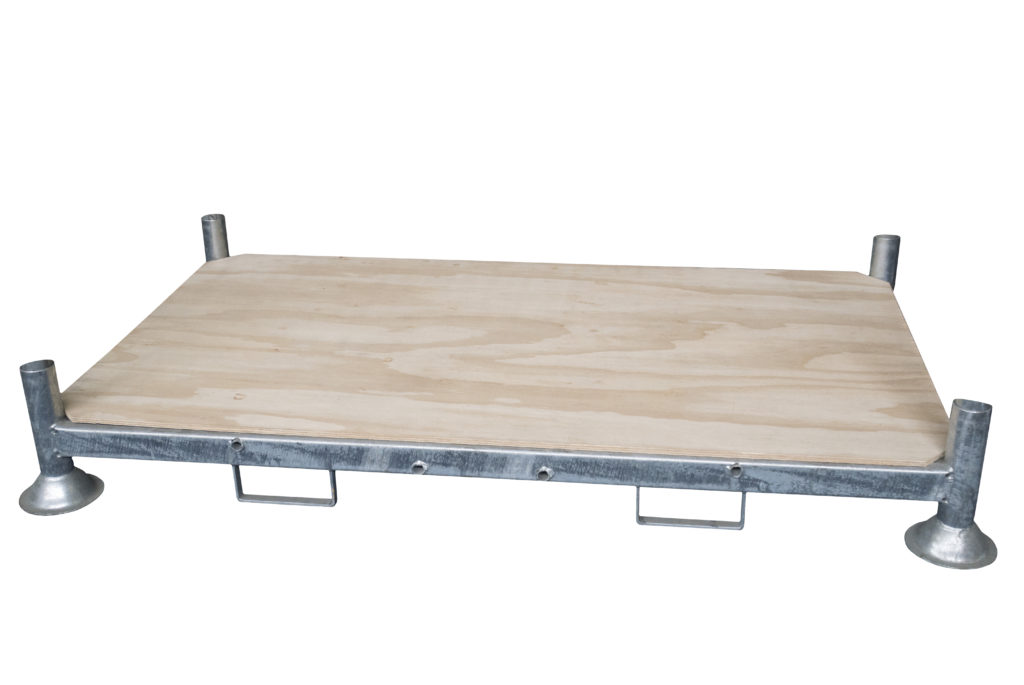 Demountable Post Pallet with Plywood Base - 1850x1035x310 mm - Double