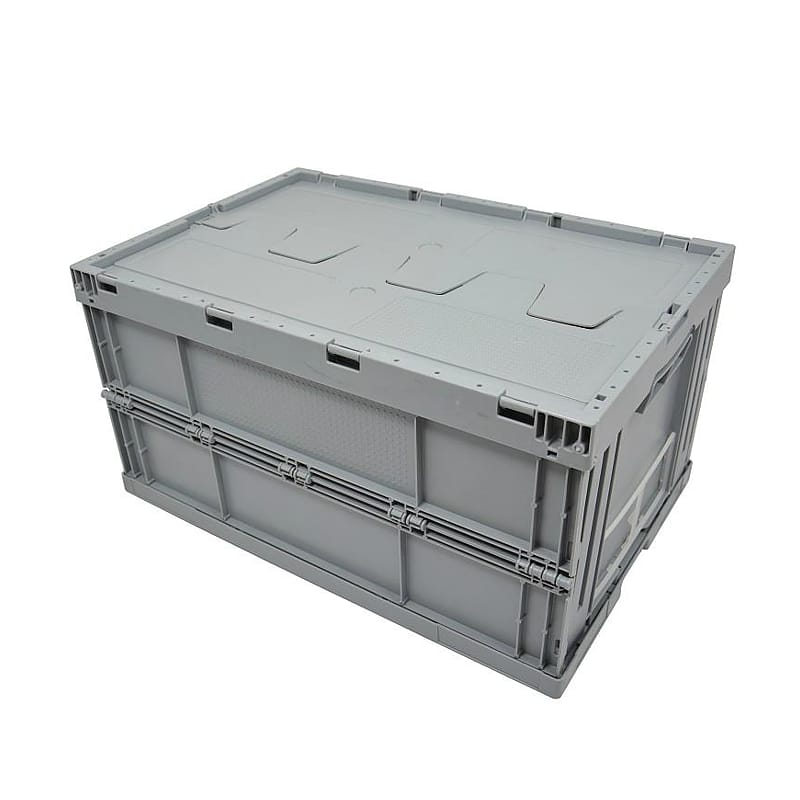 Collapsible Plastic Box wit Lid - 600x400x320 mm - 59L