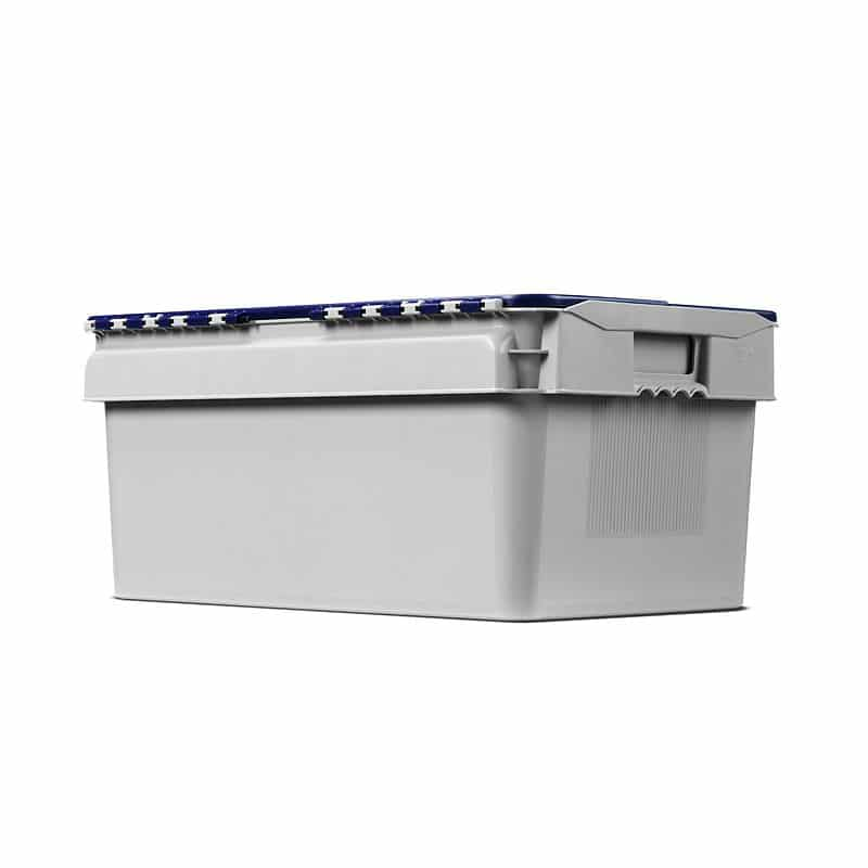 Plastic Distribution Box with Lid - 600x400x275 mm - 45L, Nestable
