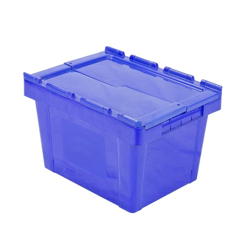 Attached Lid Tote Box - 400x300x260 mm - 25L, Nestable
