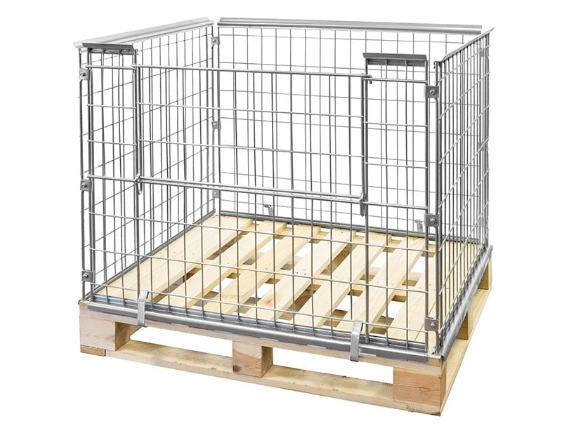 Metal Wire Pallet Collar - 1220x1020x870 mm - Collapsible