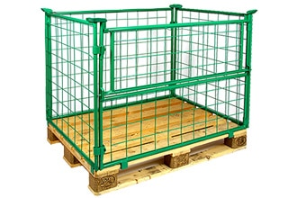 Metal Wire Pallet Collar - 1200x800x800 mm - Collapsible