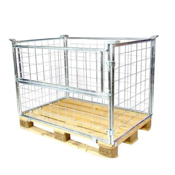 Wire Cage Pallet Collar-1200x800x1000mm - Galvanised, Used
